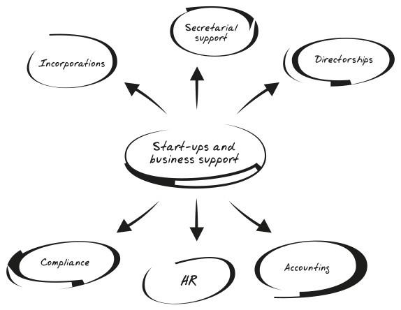 Start-Ups Organigram Image